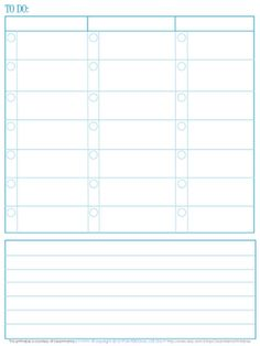 Free to-do list printable