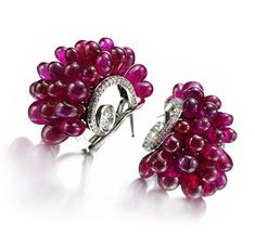 A Pair of Ruby Bead and Diamond Ear Clips, by Bhagat. Via FD Gallery, www.fd-inspired.com. One of my favorite contemporary jewelry designers.