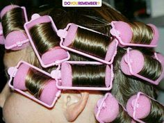"""Sleeping in Pink Sponge Rollers! Not as painful as the """"bottle brush"""" rollers at least. My Childhood Memories, Childhood Toys, Sweet Memories, Sponge Rollers, Foam Rollers, Oldies But Goodies, Good Ole, Thats The Way, 90s Kids"""