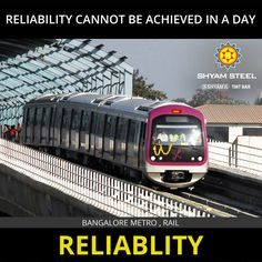 Bangalore Metro - India's second largest metro system in terms of both length and number of stations. #ShyamSteel a part of the nations solid infrastructure. #TMTBars #TMT #Reliability www.shyamsteel.com