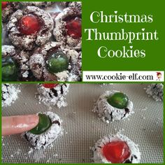 Chocolate Thumbprint Cookies from The Cookie Elf