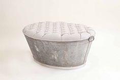 Ottoman Tub – Linen Upholstered