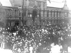Black and white photograph showing Diamond Jubilee Day celebrations in Victoria Square, St.Helens MCL - Clare Collection 2 - Black and white photographs showing Victoria Square, St. Jubilee Day, Saint Helens, Family Album, The Old Days, Working Class, Family History, Over The Years, Celebrations, Old Things