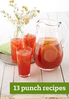 13 Punch Recipes – Our cool and refreshing punch recipes are perfect for parties and ready in only a few minutes. Fruity or fizzy, sweet or tangy, your guests will enjoy every sip. Punch Recipes For Kids, Party Punch Recipes, Summer Recipes, Refreshing Drinks, Summer Drinks, Fun Drinks, Beverages, Kraft Recipes, Punch Sangria