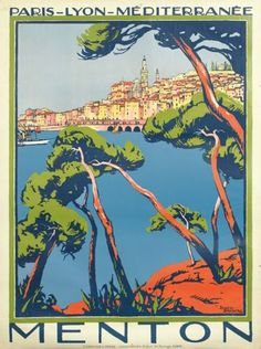 By Roger Broders (1883-1953), Menton. (F)