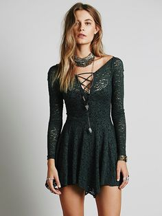 Free People Juliet Lattice Fit and Flare Slip