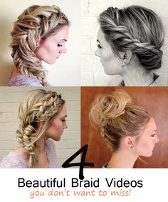 4 beautiful braid videos – You don't want to miss! #howdoesshe #diybraids howdoesshe.com