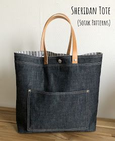 Bag Pattern Free, Bag Patterns To Sew, Tote Pattern, Handbag Patterns, Denim Tote Bags, Diy Tote Bag, Creation Couture, Patchwork Bags, Fabric Bags