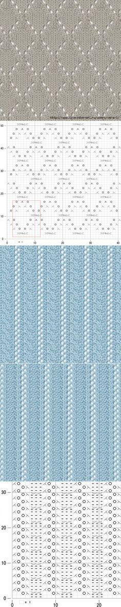 f5f701d89f878e5c1f2c94c6232400 Lace Knitting Stitches, Knitting Charts, Knitting Designs, Knitting Projects, Baby Knitting, Knitting Patterns, Crochet Patterns, Crochet Crafts, Crochet Yarn