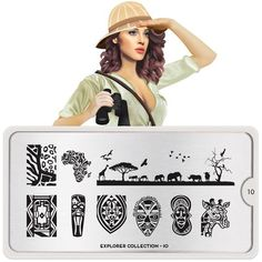 Break out your safari gear and be ready for adventure, it's the Explorer Nail Stamping Plate Collection from MoYou London.