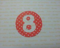 Recorte circular numero festa do MICKEY