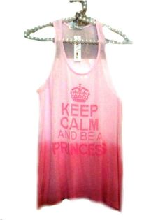 Keep Calm and be a princess. #t-shirt #camiseta