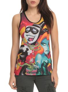 Harley Quinn & Poison Ivy...together on one great tank.