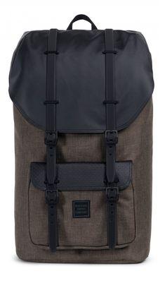 Herschel Supply Co. Little America Backpack - Light Khaki Crosshatch/Forest Night/Black Rubber One Strap Backpack, Leather Backpack, Herschel Supply Co, Handbags On Sale, Luxury Handbags, Nylons, Men's Backpacks, Best Valentine's Day Gifts, Style Simple