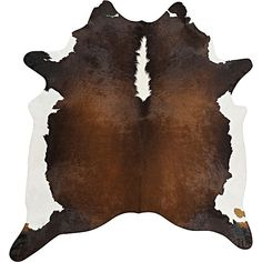 Indulge your home with the warm, natural charms of the high-quality Genuine Brazilian Cowhide Rug, Chocolate Brown from Rug Culture.