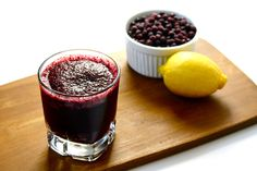 Take a sip of this frosty blueberry slushy - chock-full of antioxidant powers and deliciously tart taste