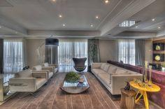 Apartamento Residencial APA : Salas de estar modernas por Pauline Kubiak Arquitetura