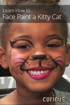 How to Face Paint a Kitty Cat