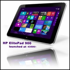 Hewlett Packard launched its business tablet - HP ElitePad 900 - in India at a price of Rs 43,500. The tablet runs Microsoft's latest Windows 8 operating system.