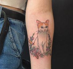 Lauren Winzer kitty tattoo