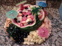hawaiian style platter for a hawaiian party