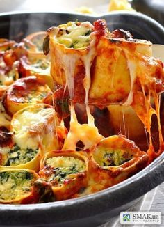 Рулетики из лазаньи с сыром