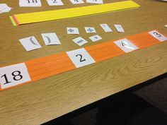 Order of operations game. Every group gets a sentence strip with the same numbers on it. Call out a solution and the groups have to use the operations to make the numerical expression true. Points awarded, then discuss the process. Teacher Helper, Math Teacher, Math Classroom, Teaching Math, Secondary Math, Primary Maths, Real Numbers, Math Numbers, Numerical Expression