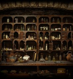 Herbs used in Outlander series. I love the apothecary cabinet.