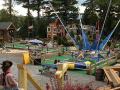 Bungie Bounce and mini golf in Lake Placid