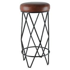 Perfect for a funky but refined eat in kitchen. Ironware's  Fela  9047  Upholstered Bar Stool COM or COL