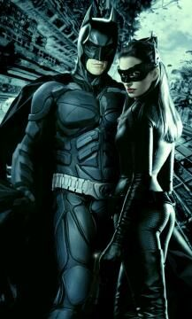 Batman and Catwoman equipo perfecto. Gran pelicula gran mensaje. Grande DC