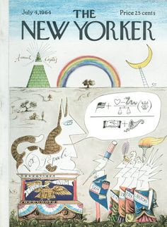 Saul Steinberg : Cover art for The New Yorker 2055 - 4 July 1964