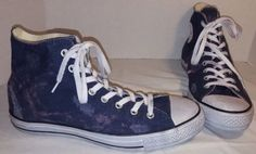 NEW CONVERSE CHUCK TAYLOR ACID WASHED NAVY BLUE HI TOP SNEAKERS MEN'S 10  #Converse #BasketballShoes