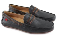 c675991a749 Nolita - Black Grainy - Marc Joseph New York Penny Loafers
