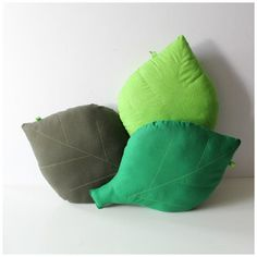 40 x 28cm Leaf cushion. Decorative green leaf shaped pillow. Home decor accessory. Woodland nursery decor.