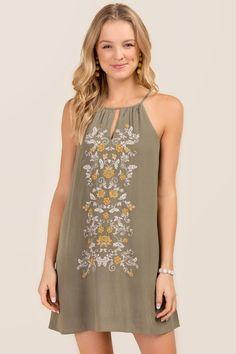 Celeste Embroidered Shift Dress