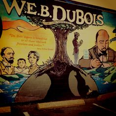 W. E. B. DuBois mural in Great Barrington, MA.