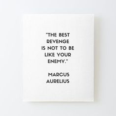 MARCUS AURELIUS Stoic Philosophy Quote Mounted Print by IdeasForArtists Philosophical Quotes About Life, The Best Revenge, Philosophy Quotes, Off The Wall, Life Quotes, Canvas Prints, Quotes About Life, Quote Life, Photo Canvas Prints