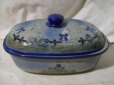 wunderschöner Keramik Brottopf, Brotkastén, Signiert, 34cm x 22cm , Brotbehälter | eBay