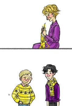 Only Mrs. Hudson could get them to wear matching sweaters and scarves.