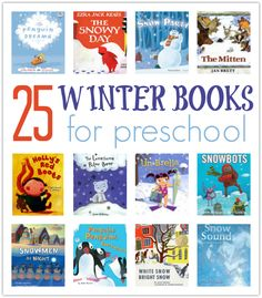 Winter books for preschool another great book list by no time for flash cards.
