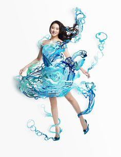 Shiseido calendar 2015 July. Paper craft by Ayame Kikuchi