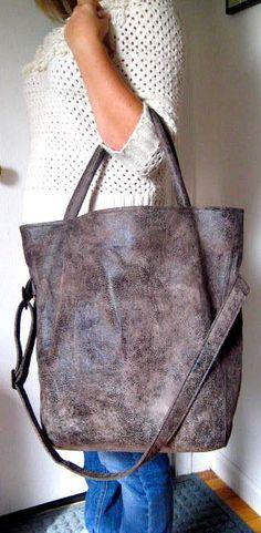 Stone Grey Foldover Crossbody Bag Tote Bag di PippiHepburn su Etsy