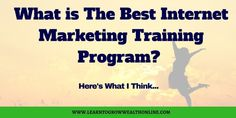 Want to know what is the best internet marketing training program? I had no experience and this training program worked perfect for me. Online Reviews, Marketing Training, Perfect For Me, Training Programs, Internet Marketing, Programming, Good Things, Education, Career
