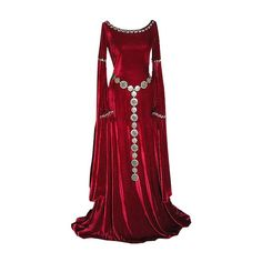 Medieval Dress- red and flowing