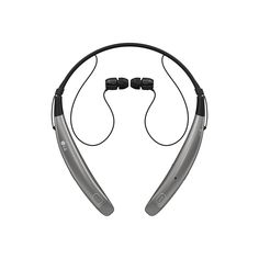 LG Tone Pro HBS-770 Wireless Stereo Headset - Silver. Ultra-fine wires - low-profile wires use quality Kevlar fiber and accentuate the Slime design. Contoured for comfort design - lightweight around-the-neck wearing style achieves True comfort. Quad-layer speaker technology - balanced Audio and less distortion. Dual mems microphones - maintain exceptionally clear voice calls. Tone & Talk 2.0 - SMS reading with added voice memo and find me features, allowing you to use your tone Pro to…