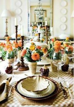 The tangerine colored dahlias in these are similar to a variety that I really love and was thinking of for you