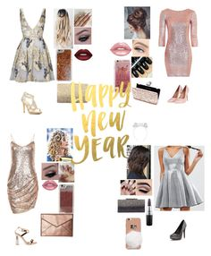 """""""Squad about to kill it New Year's Eve"""" by evewalts16 ❤ liked on Polyvore featuring Notte by Marchesa, Topshop, ASOS, Caparros, Lime Crime, LMNT, Agent 18, Neiman Marcus, Miss Selfridge and Rebecca Minkoff"""