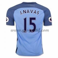 maillot de foot Premier League Manchester City 2016-17 J. Navas 15 maillot domicile