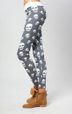 Skull Leggings perfect for school